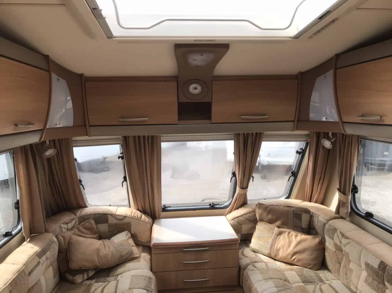 SWIFT CHALLENGER 480 / 2 berth -, full rear washroom incorperating a seperate shower cubicle, toilet and vanity unit - central offside kitchen - central nearside dinette - For sale at North Western Caravans.