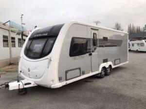 Sterling Elite Explorer 2011 silver side touring caravan