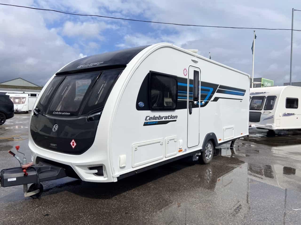 Swift celebration 580 2017 touring caravans for sale at North Western Caravans
